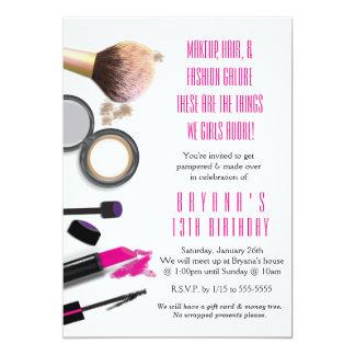 Makeup Party Invitations Announcements Zazzle