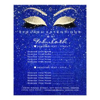 Makeup Beauty Salon Glitter Flyer Gold Cobalt Blue