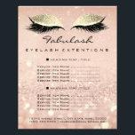 "Makeup Beauty Salon Glitter Flyer Pink Gold Blush<br><div class=""desc"">florenceK luxury beauty salon colletion</div>"
