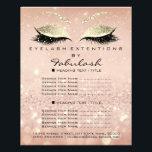 """Makeup Beauty Salon Glitter Flyer Pink Gold Skinny<br><div class=""""desc"""">florenceK luxury beauty salon colletion</div>"""