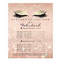 Makeup Beauty Salon Glitter Flyer Pink Gold Skinny