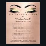 "Makeup Beauty Salon Gold Glitter Flyer Skinny Lash<br><div class=""desc"">florenceK luxury beauty salon colletion</div>"
