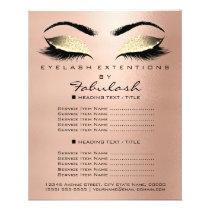 Makeup Beauty Salon Gold Glitter Flyer Skinny Lash