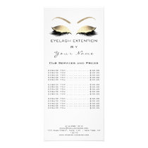 Makeup Beauty Salon Name White Gold Black Eyebrows Rack Card