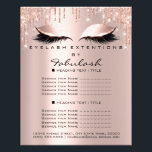 "Makeup Beauty Salon Pink Glitter Flyer Spark Lash<br><div class=""desc"">florenceK luxury beauty salon colletion</div>"