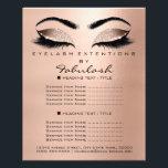 "Makeup Beauty Salon Rose Glitter Flyer Browns Lash<br><div class=""desc"">florenceK luxury beauty salon colletion</div>"