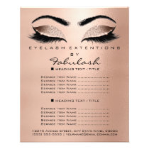 Makeup Beauty Salon Rose Glitter Flyer Browns Lash