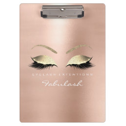 Makeup Beauty Studio Lashes Rose Gold Lux Clipboard