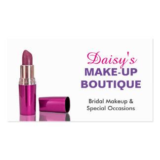 Makeup Boutique Salon Stylish Pink Purple Lipstick Business Card