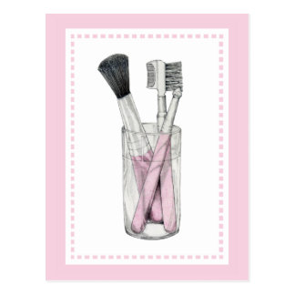 Makeup Brushes Postcard