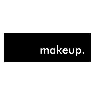 makeup. Double-Sided mini business cards (Pack of 20)