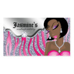 Makeup Business Card African American Zebra PS