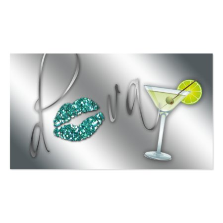 Chic Girly Bartending Services Bartender Business Cards