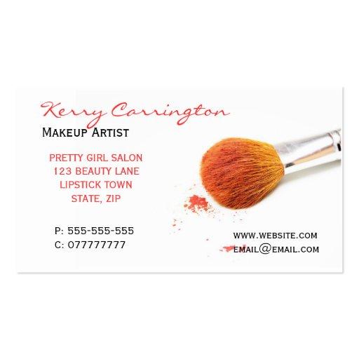 Makeup business cards