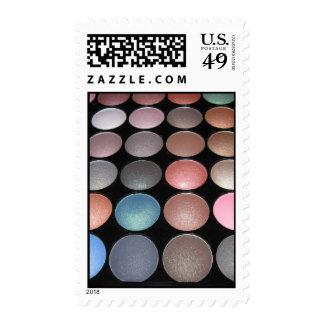 Makeup colorful eyeshadow postage stamp