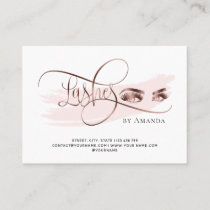 Makeup Eyebrow Eyes Lashes Aftercare card
