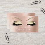 """Makeup Eyebrow Eyes Lashes Glitter Rose Gold Business Card<br><div class=""""desc"""">Elegance and harmony  Minimalism and glam florenceK design</div>"""