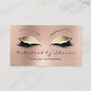 Luxury business cards templates zazzle makeup eyebrow lashes glitter diamond pink luxury business card colourmoves