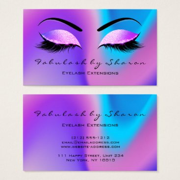 Beach Themed Makeup Eyebrow Lashes Glitter Skinny Miami Beach Business Card