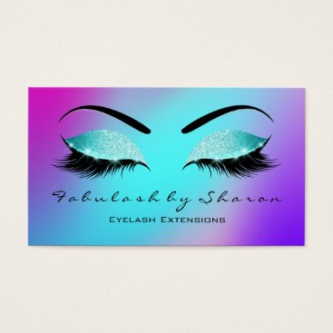 McTiffany Tiffany Aqua Makeup Eyebrow Lashes Glitter Skinny Tiffany Pink Business Card