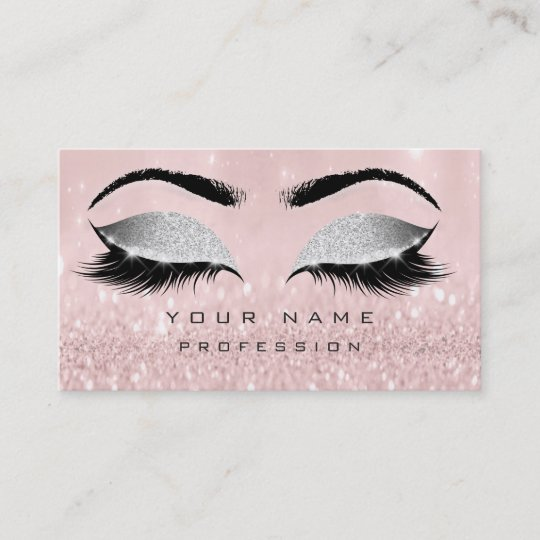 Makeup eyebrows lashes extension pink glitter business card zazzle makeup eyebrows lashes extension pink glitter business card colourmoves