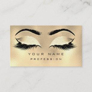 Metallic business cards templates zazzle makeup eyebrows lashes glitter metallic glam gold business card colourmoves