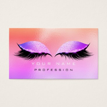 McTiffany Tiffany Aqua Makeup Eyes Lashes Glitter Glass Pink Ombre Miami Business Card
