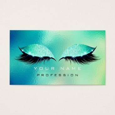 McTiffany Tiffany Aqua Makeup Eyes Lashes Glitter Glass Tiffany Aqua Blue Business Card