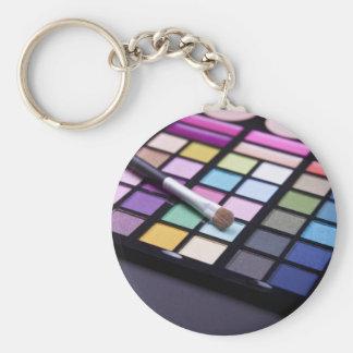 Makeup Eyeshadow Artist Fashion Chic Basic Round Button Keychain