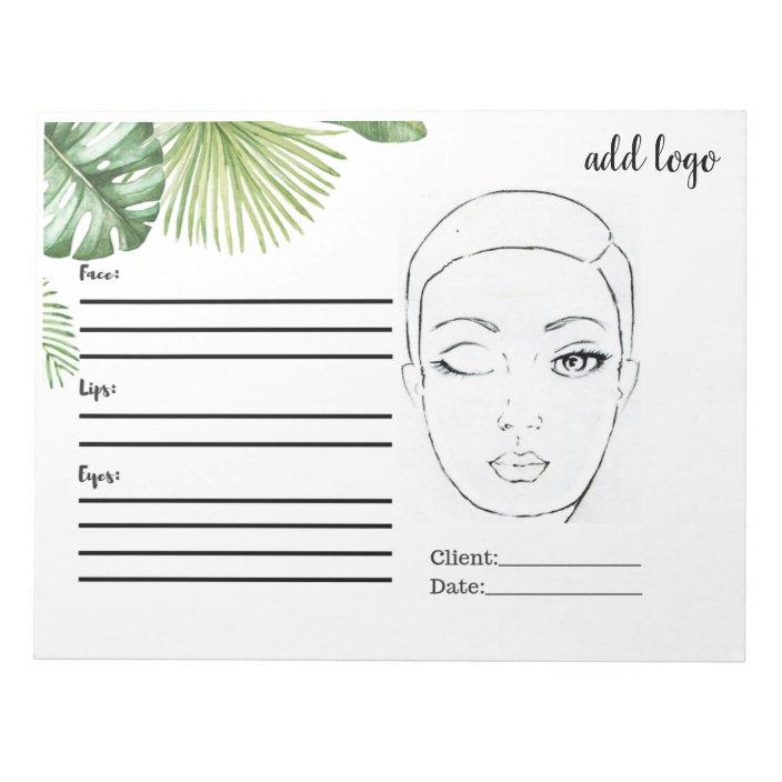 Makeup Face Chart Simple Basic Palms