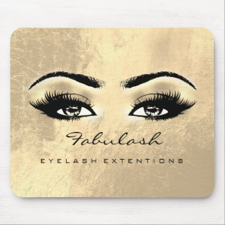 Makeup Gold Browns Eyes Beauty Lashes Skinny Mouse Pad