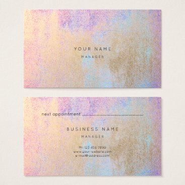 McTiffany Tiffany Aqua Makeup Gold Tiffany Pink Blue Appointment Card