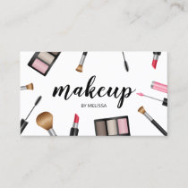 Makeup Illustration Makeup Artist Cosmetologist Business Card