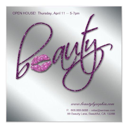 Makeup Invitation Open House Beauty Lips Purple