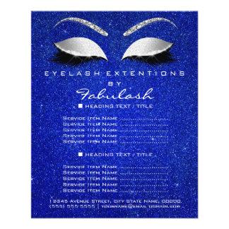 Makeup Lashes Beauty Salon Glitter Flyer Gray Blue
