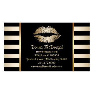 Makeup Lip Product Distributor Modern Gold Lips Business Card