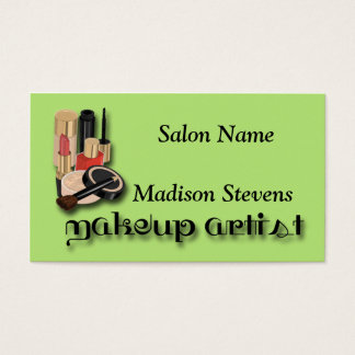 Makeup Lipstick Eye Liner Nail Polish Foundation Business Card