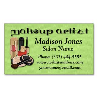 Makeup Lipstick Eye Liner Nail Polish Foundation Magnetic Business Card