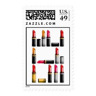 Makeup lipstick stamp