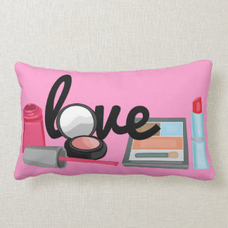 Makeup love cosmetics art Decorative Throw Pillow
