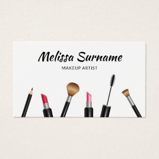 Makeup Mascara, Lipstick, Brush Etc. Makeup Artist Business Card