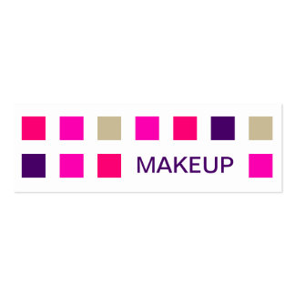 MAKEUP (mod squares) Double-Sided Mini Business Cards (Pack Of 20)