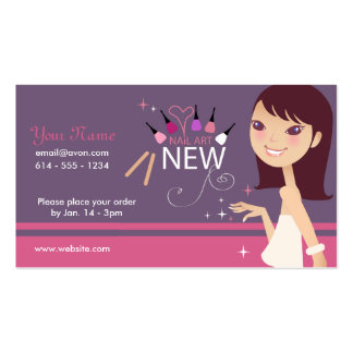 Makeup - Nail Art Business Card
