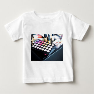Makeup Palette and Brushes - Beauty Print Baby T-Shirt