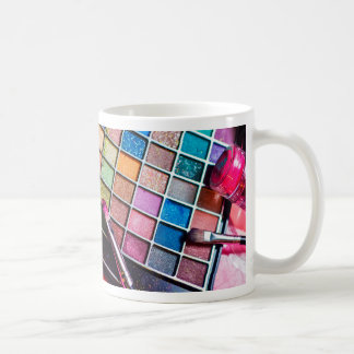 Makeup Palette and Brushes - Beauty Print Coffee Mug