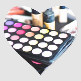 Makeup Palette and Brushes - Beauty Print Heart Sticker