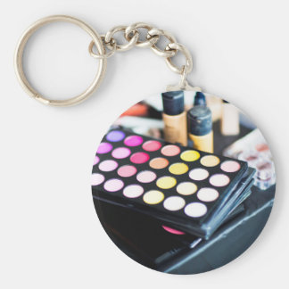 Makeup Palette and Brushes - Beauty Print Keychain