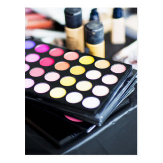 Makeup Palette and Brushes - Beauty Print Postcard