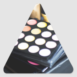 Makeup Palette and Brushes - Beauty Print Triangle Sticker