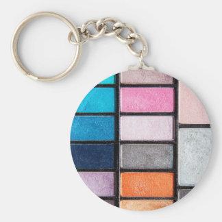 Makeup Palette - Beauty Cosmetics Print Keychain